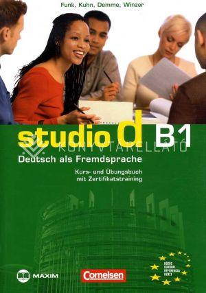 Kép: studio d B1 Kurs- und Übungsbuch mit Zertifikatstraining (CD-melléklettel)