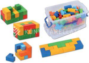 Kép: 80 db-os színes derékszögépítő dobozban
