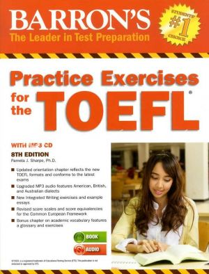 Kép: Barron's Practice Exercises for the TOEFL 8th Edition with MP3 CD