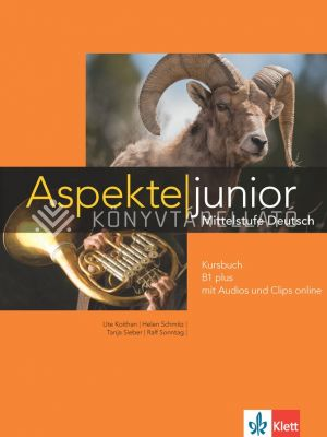 Kép: Aspekte junior Kursbuch B1 plus mit Audios und Clips online