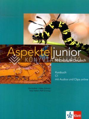 Kép: Aspekte junior Kursbuch C1 mit Audios und Clips online
