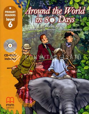 Kép: Around The World In Eighty Days (Level 6) Student'S Book (With Cd-Rom)