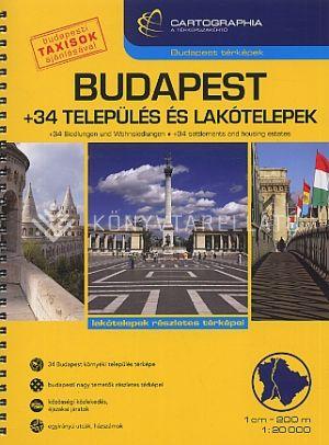 Kép: Budapest + 34 település és lakótelepek 1:20 000