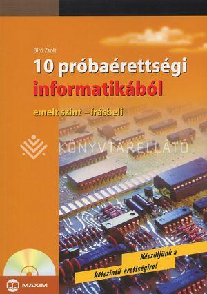 Kép: 10 próbaérettségi informatikából (Emelt szint - írásbeli)