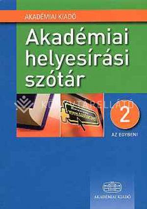 Kép: Akadémiai helyesírási szótár