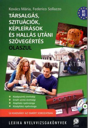Kép: Társalgás, szituációk, képleírások és hallás utáni szövegértés olaszul (CD-melléklettel)
